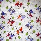 1 yard - Country Life design #5521 - Folk art print coordinate fabric