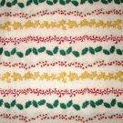 1.75 yard - Holiday rows on cream fabric