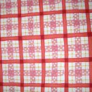 1 yard - Garden Check print - Pink, white, yellow - Michael Miller fabrics