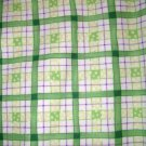 1 yard - Garden Check Coordinate print - Purple, Green - Michael Miller fabrics