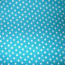 1.33 yards - Bright blue fabric with circles and shapes