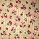 1.8 yard - Yellow fabric with cherries