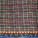 1.33 yards - Holiday black plaid  border fabric