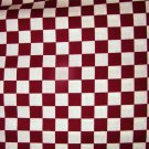 1 yard - Burgandy and white checkerboard fabric - Baum Textiles