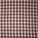 1.6 yard - Red, tan, green homespun fabric