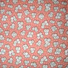 1.8 yard - Retro vintage reproduction flowers on pale salmon fabric