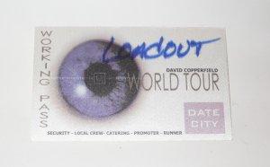 DAVID COPPERFIELD WORLD TOUR CREW PASS / Magic Ephemera