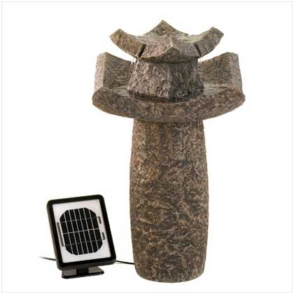 Temple Solar Water Fountain Retail Price $259.95