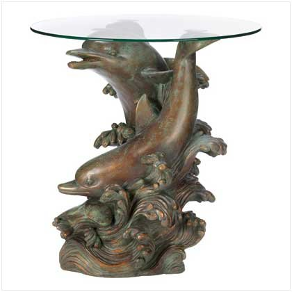 Seafaring Dolphin Accent Table Retail Price 169.95
