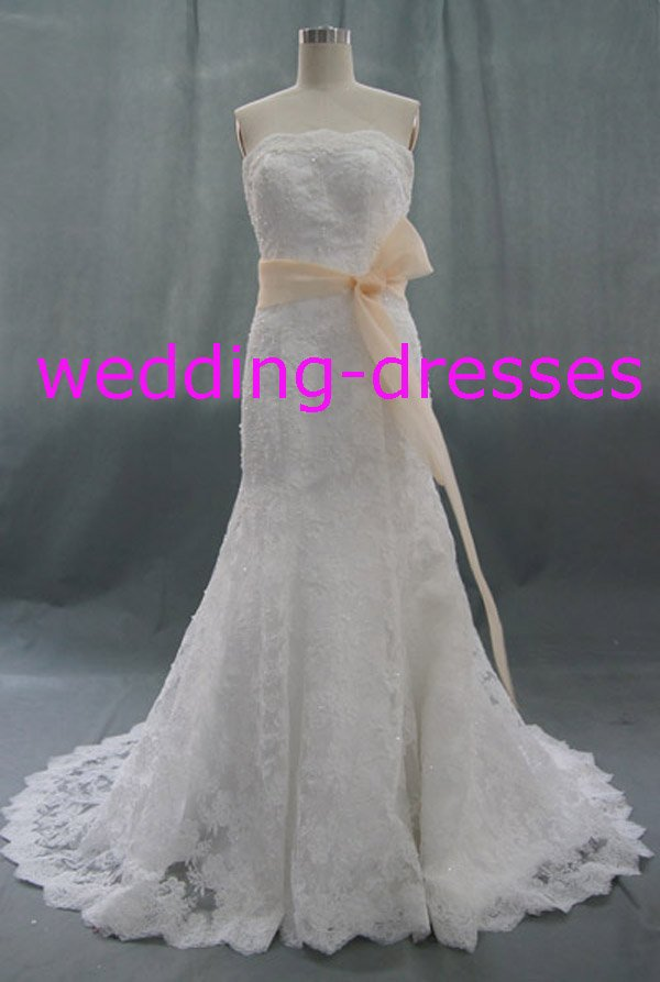 Fashion Strapless Mermaid Beaded Real Wedding Dress / Sample Picture Of Factory(WD599)