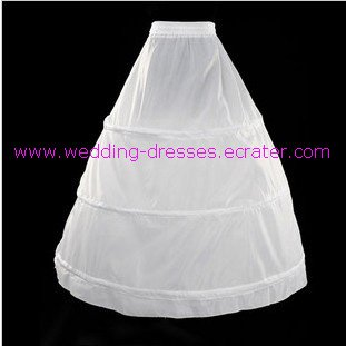 wedding dress accessories-1 layer 3 hoops petticoat (PT012)