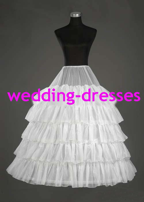 Wedding Dress Accessories-5 Layers Underskirt Petticoat (PT014)