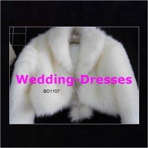 Long Sleeves White Jacket / Bolero / Wedding Dress Jacket 042