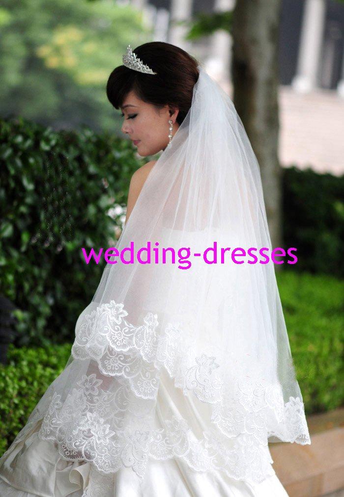 Hot Sales Appliqued 1.5 Meters Wedding Dress Accessories -Wedding Dress Veil (VL007)