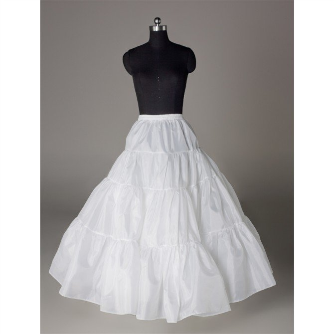 Wedding Dress Accessories-Hoopless Underskirt/ Petticoat (PT025)