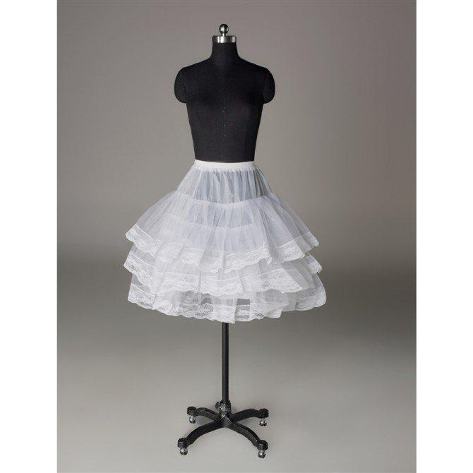 Wedding Dress Accessories- Lace Appliqued Underskirt/ Petticoat (PT027)