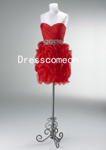 Strapless Cocktail Party Dress, Prom Dress, Tutu Party Dress, Bridesmaid Dress(MD047)
