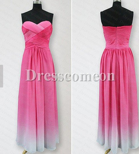 Elegant A-line Floor-length Sweetheart Chiffon Bridesmaid Dress(BDMD002)