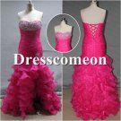 Custom Made High-low Dress, Beading Prom Dress,Evening Dress