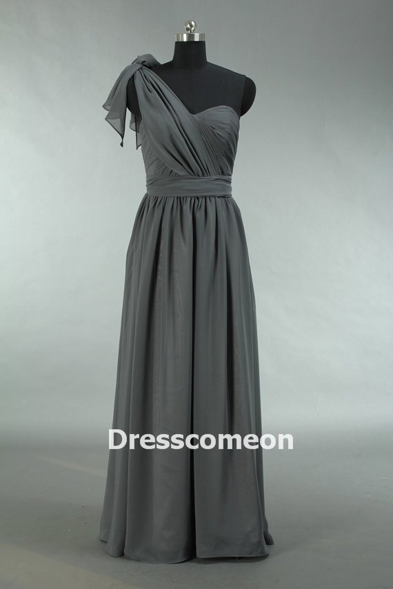 cheap grey prom dress long convertible chiffon prom dress
