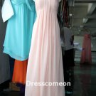 Custom Made Princess Sweetheart Floor-length Chiffon Prom Dress, Bridesmaid Dress