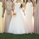 Custom Made A-line Chiffon Long Bridesmaid Dress,Chiffon Long Prom Dress,Affordable Bridesmaid Dress