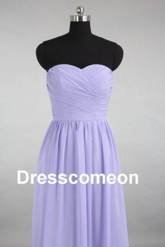 Lanvender Chiffon Sweetheart Long Bridesmaid Dress, Elegant  Evening Dress,Prom Dress
