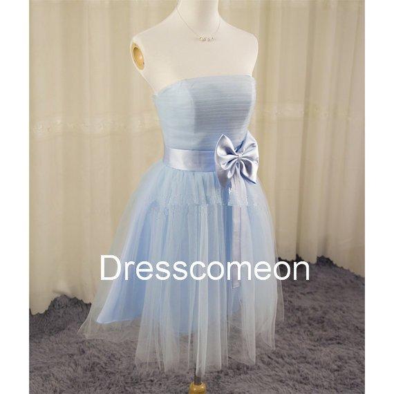 Sweetheart Short Tulle Bridesmaid Dress,Short Homecoming Dress, Short  Graduation Party Dress
