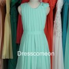 Short Scoop Chiffon Bridesmaid Dress,Short  Summer Dress