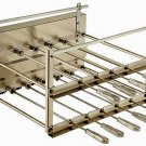 BRAZILIAN ROTISSERIE SYSTEM FOR BBQ CHARCOAL GRILL - 09 SKEWERS - RESIDENTIAL