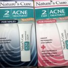 Nature's Cure 2 Part Acne Treatment 1 oz Dermatologist Tested ship worldwide