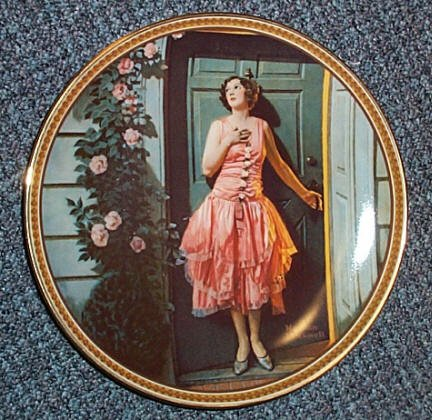 "Norman Rockwell ""Standing in the Doorway"" Plate."