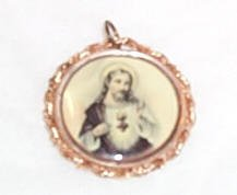 Beautiful Sacred Heart Medallion
