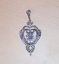 Beautiful Vintage Sterling Silver Amethyst Pendant