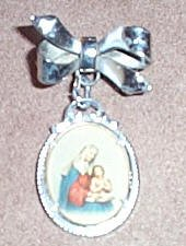 Beautiful Silver Pin of Saint Ann