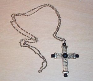 Vintage Crucifix with Beads