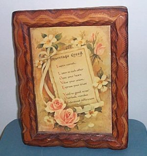 Marriage Creed Plaque