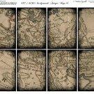 ATC/ACEO backs: Antique Maps #1