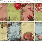 ATC/ACEO backs: Roses In Paris