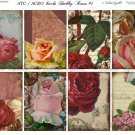 ATC/ACEO backs: Shabby Roses #1