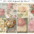 ATC/ACEO backs: Soft Roses #1