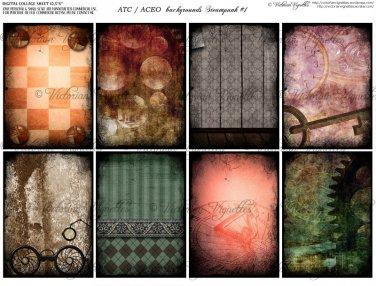 ATC/ACEO backs: Steampunk #1
