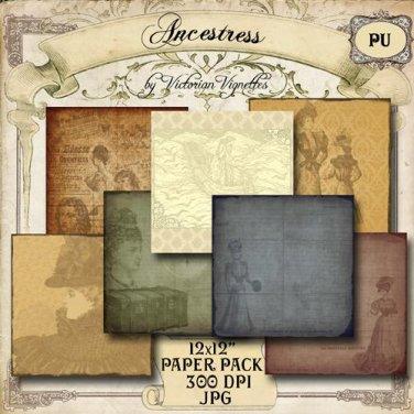 "Digital Paper Pack: Ancestress (12x12"", JPG)"