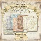 """Digital Paper Pack: Victorian Flowers #1 (11x8,5"""", JPG)"""