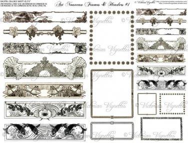 Art Nouveau Frames & Headers #1