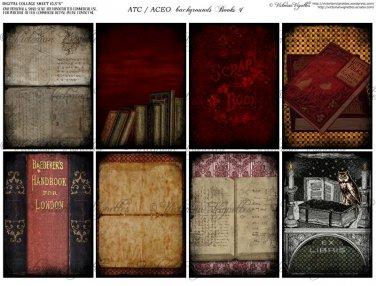 ATC/ACEO backs: Books #1