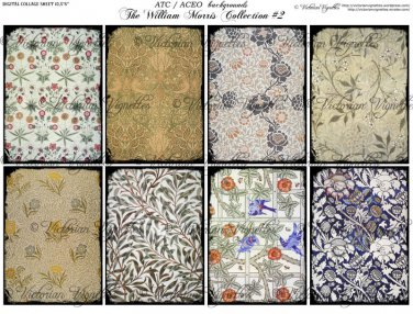 ATC/ACEO backs: The William Morris Collection #2