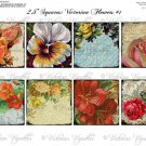 "2.5"" Squares: Victorian Flowers #1"