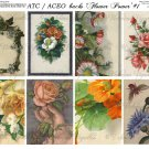 ATC/ACEO backs: Flowers #1