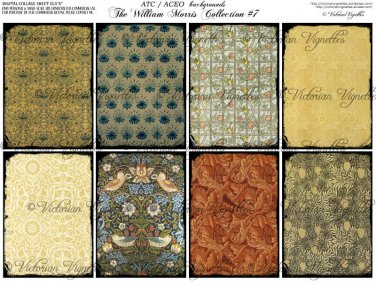 ATC/ACEO backs: The William Morris Collection #7